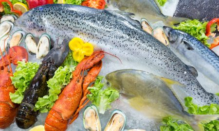 seafood fresh stock image