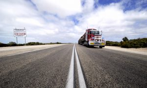 truck transport road train stock image