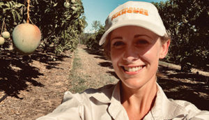 Cairns-based industry development officer with the Australian Mango Industry Association, Marine Empson. Image courtesy of AMIA
